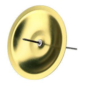 Portacandele per Avvento 4 pz ottone dorato diam. 5 cm s2