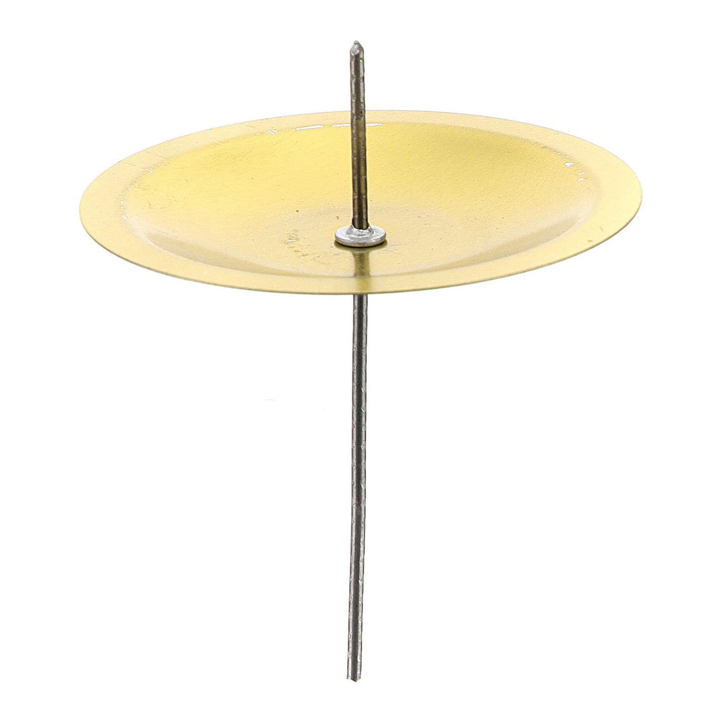 Gniazda Podstawki pod świecę na Adwent zestaw 4 szt mosiądz pozłacany śr. 5 cm 3
