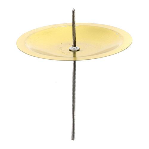 Gniazda Podstawki pod świecę na Adwent zestaw 4 szt mosiądz pozłacany śr. 5 cm 1
