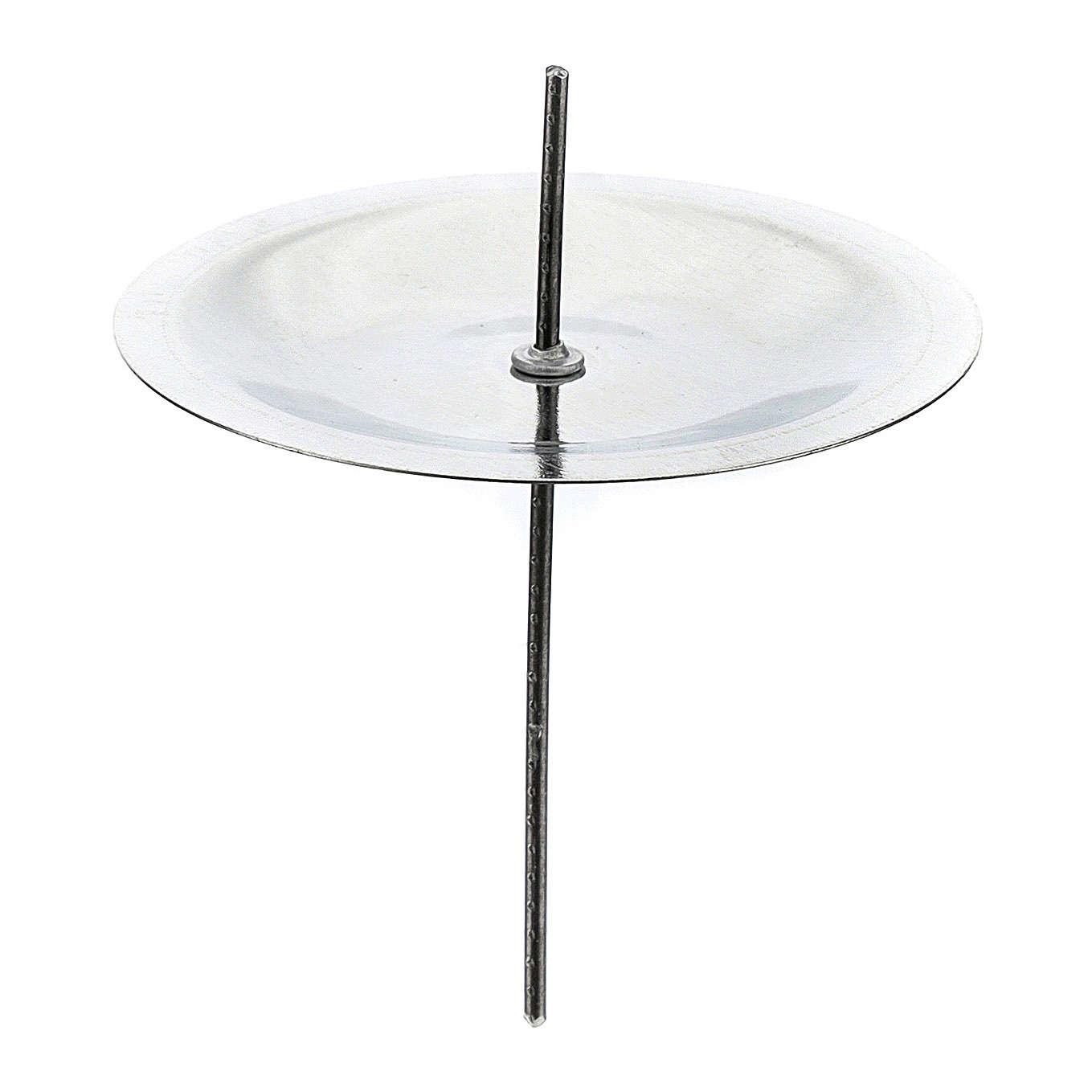 Set 4 puntas para corona Adviento latón plateado 5 cm 3