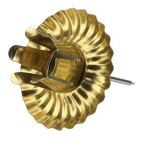 Portavela Adviento 4 piezas forma floral 5 cm s2