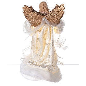Christmas Tree topper, Angel with golden wings and LED lights 30 cm s5