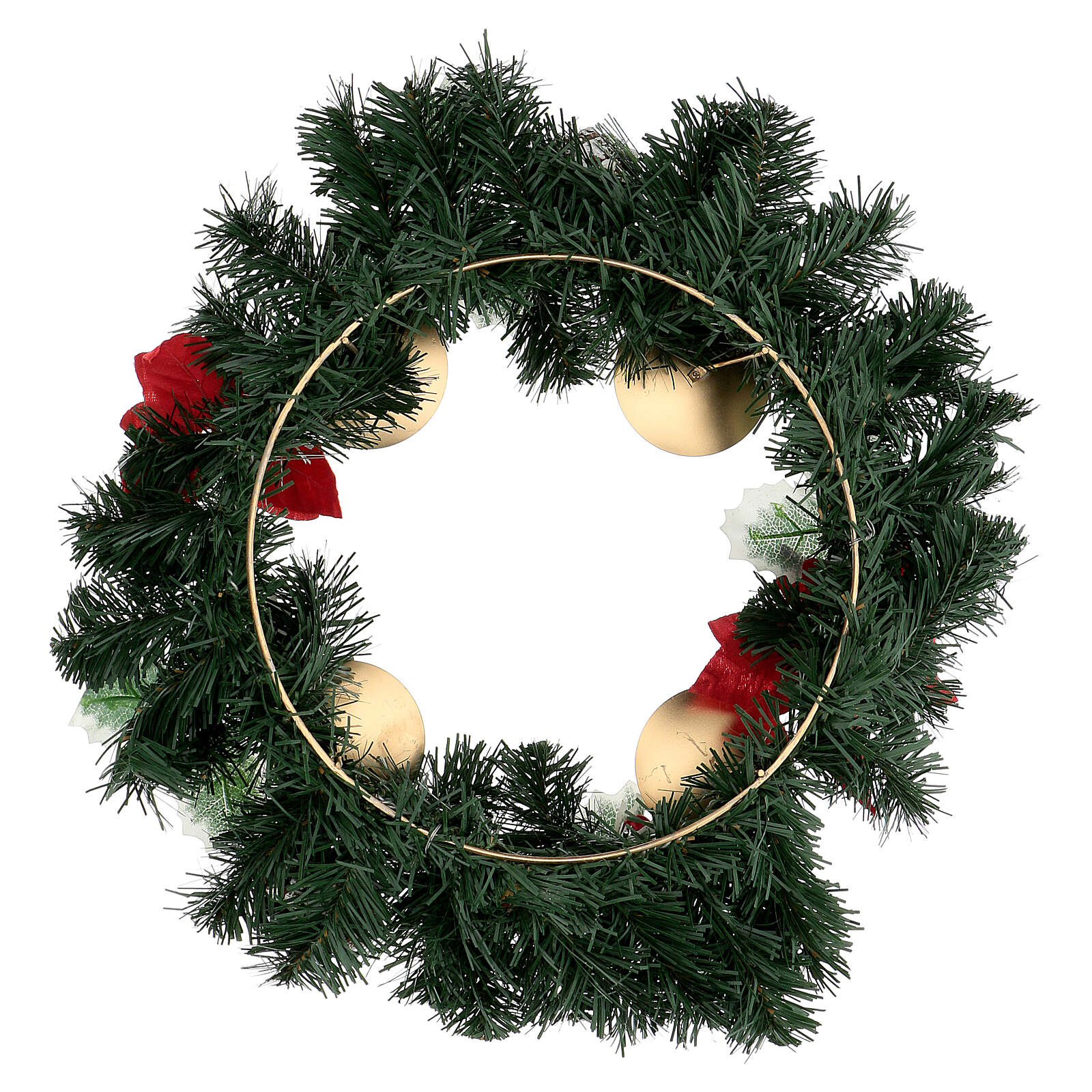 Advent wreath with Christmas berries pine cones with spikes, diameter 40 cm 3