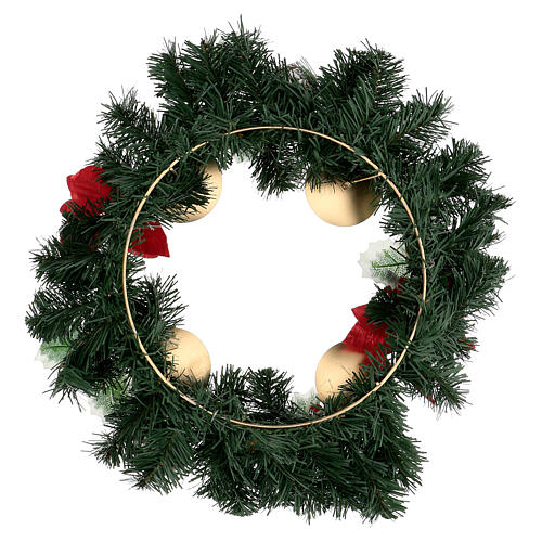 Advent wreath with Christmas berries pine cones with spikes, diameter 40 cm 4