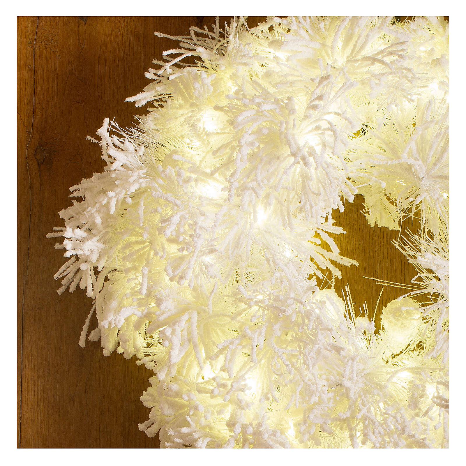 STOCK Corona Avvento White Cloud 100 led diam. 75 cm 3