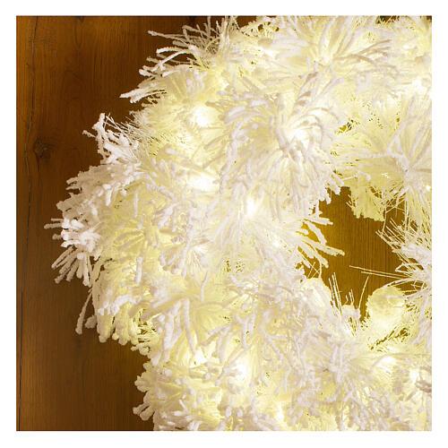 STOCK Corona Avvento White Cloud 100 led diam. 75 cm 2