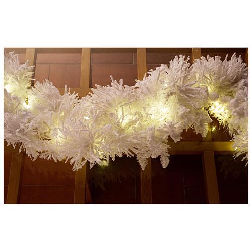 STOCK Ghirlanda Natale bianca 100 led White Cloud lunghezza 270 cm 1