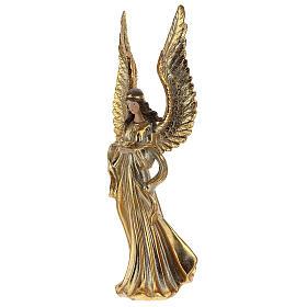 Ange de Noël ailes longues décoration or 32 cm s3