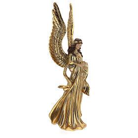 Ange de Noël ailes longues décoration or 32 cm s4