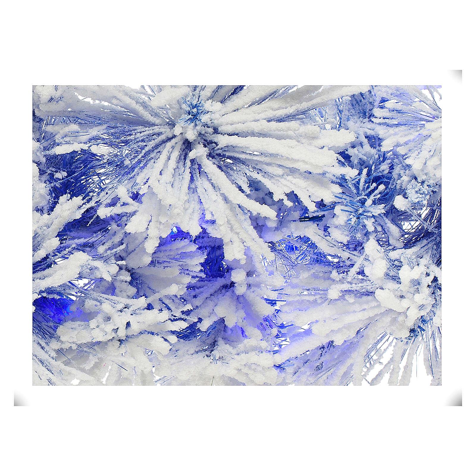 STOCK Feston Noël sapin bleu enneigé 270 cm avec 50 LED bleus 3