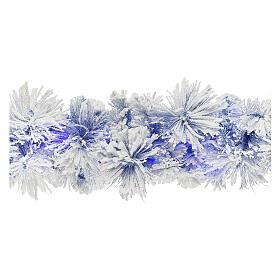 STOCK Feston Noël sapin bleu enneigé 270 cm avec 50 LED bleus s1
