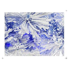 STOCK Feston Noël sapin bleu enneigé 270 cm avec 50 LED bleus s2