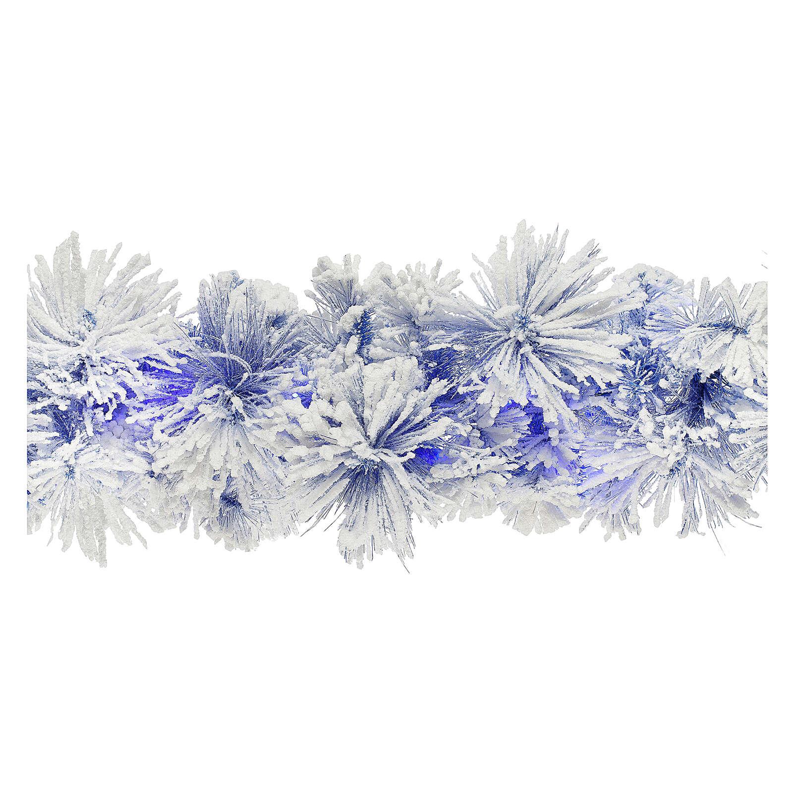 STOCK Girlanda bożonarodzeniowa sosna niebieska ośnieżona 270 cm z 50 niebieskimi światełkami led 3