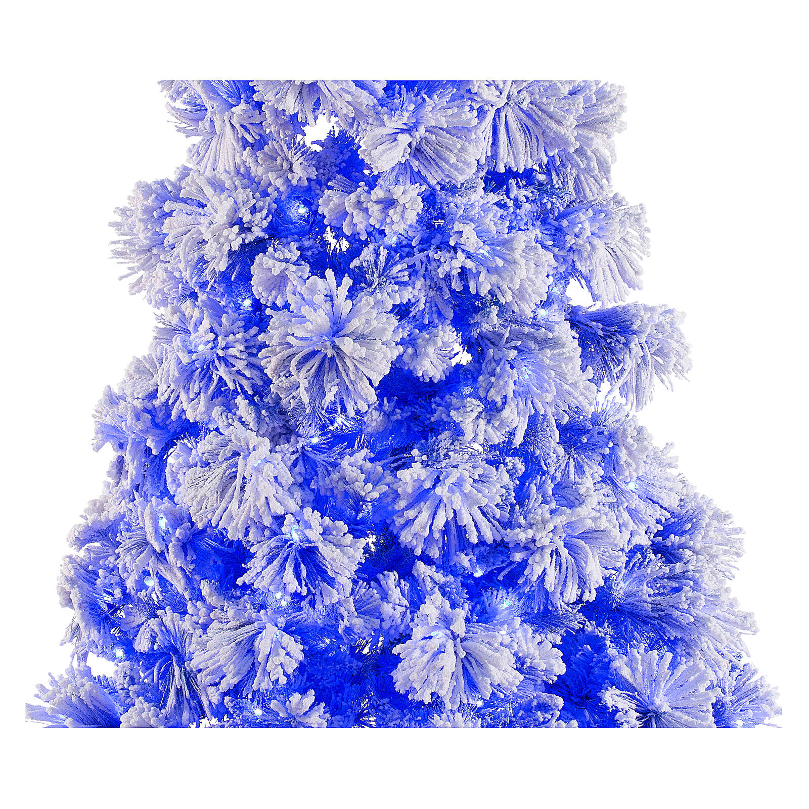 STOCK blue snowy wall Christmas tree pine 230 cm with 30 LEDs 3