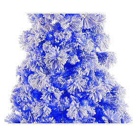 STOCK blue snowy wall Christmas tree pine 230 cm with 30 LEDs s2