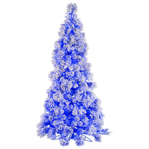 STOCK blue snowy wall Christmas tree pine 230 cm with 30 LEDs 1