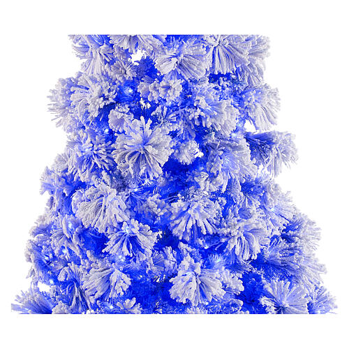 STOCK blue snowy wall Christmas tree pine 230 cm with 30 LEDs 2