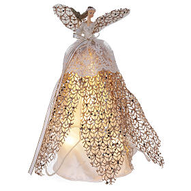 Angel tree topper in resin 27 cm illuminated with LED s1