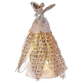 Angel tree topper in resin 27 cm illuminated with LED s3