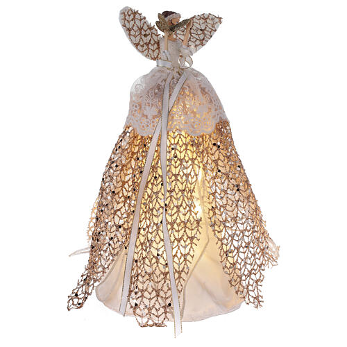 Christmas tree angel topper resin 27 cm with LED 4