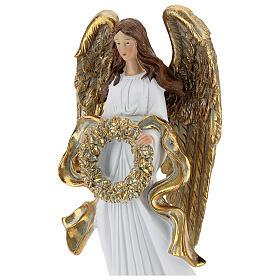 Christmas angel figurine with wreath 35 cm s2