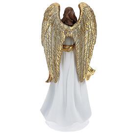 Christmas angel figurine with wreath 35 cm s5