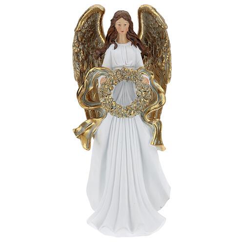 Christmas angel figurine with wreath 35 cm 1