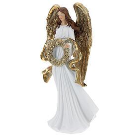 Anioł bożonarodzeniowy 35 cm z girlandą s3