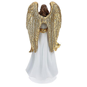 Christmas angel statue 35 cm with wreath s5
