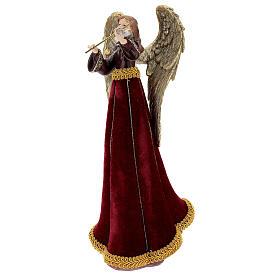 Christmas angel with violin figurine 33 cm s3