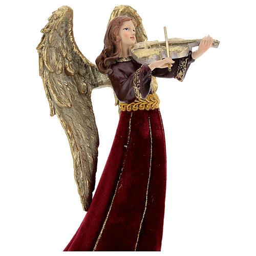 Christmas angel with violin figurine 33 cm 2
