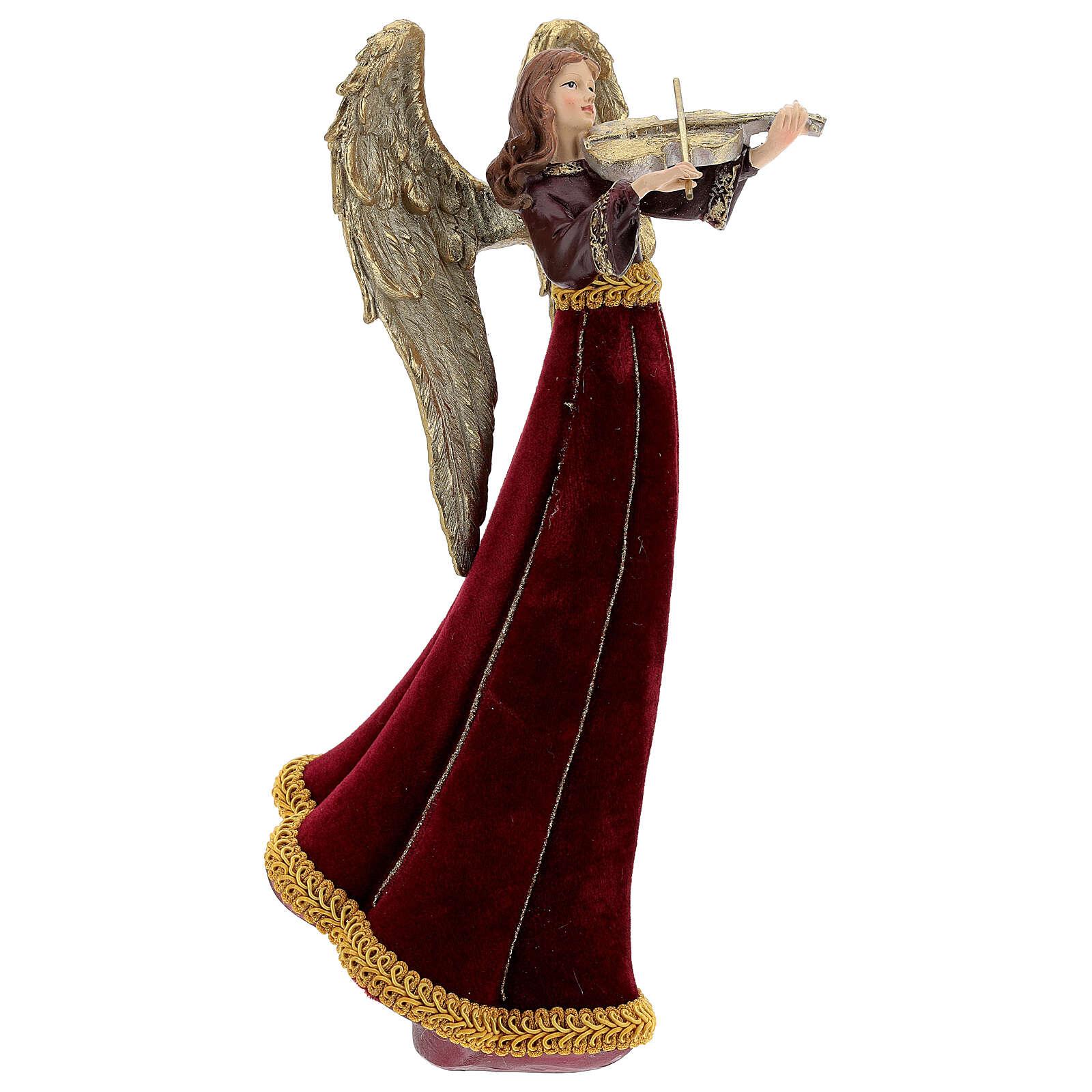 Christmas angel figurine 33 cm with violin 3