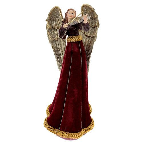 Christmas angel figurine 33 cm with violin 1