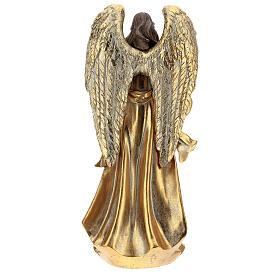 Angelo natalizio 35 cm con ghirlanda color oro s5