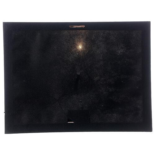 Quadro luminoso fibra ottica paesaggio innevato bianco nero 30x40 cm 3