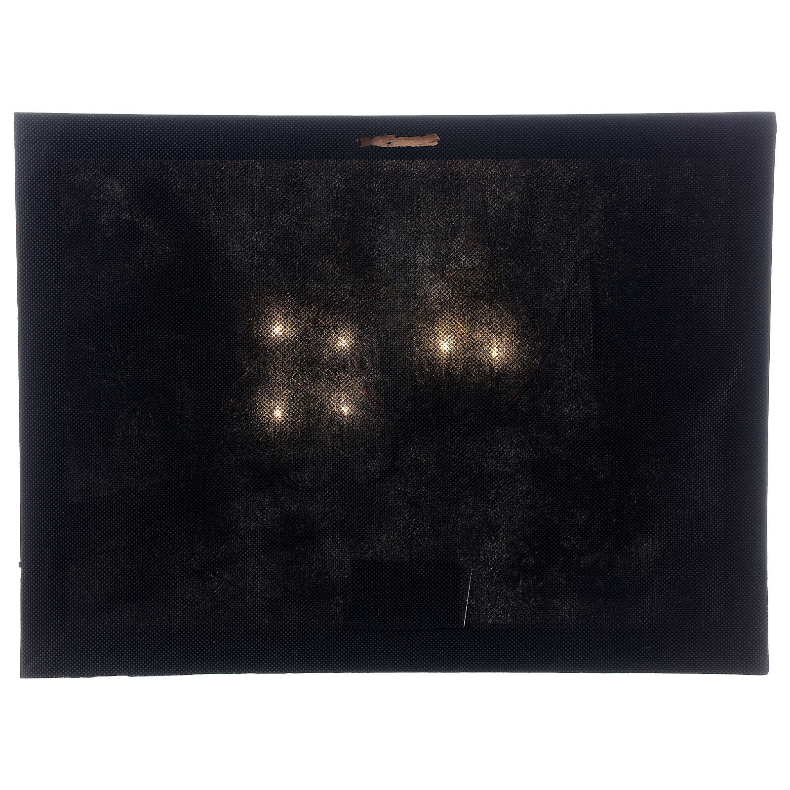Snowy landscape, fiber optic lighted Christmas wall art, 30x40 cm 3