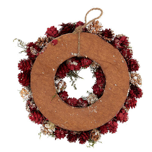 Advent wreath with gold red glitter 25 cm 4