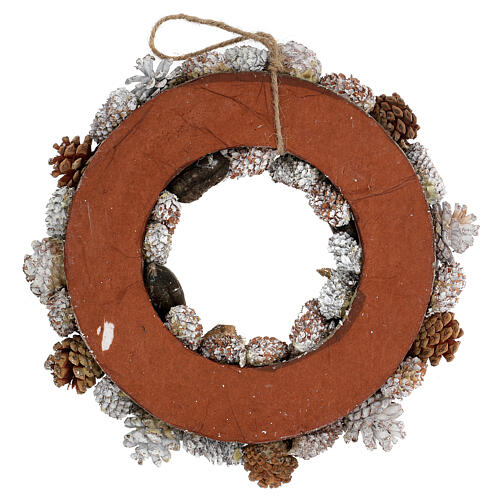 Advent wreath gold and white 33 cm diam 4