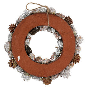Christmas wreath advent wreath gold and white 35 cm s4