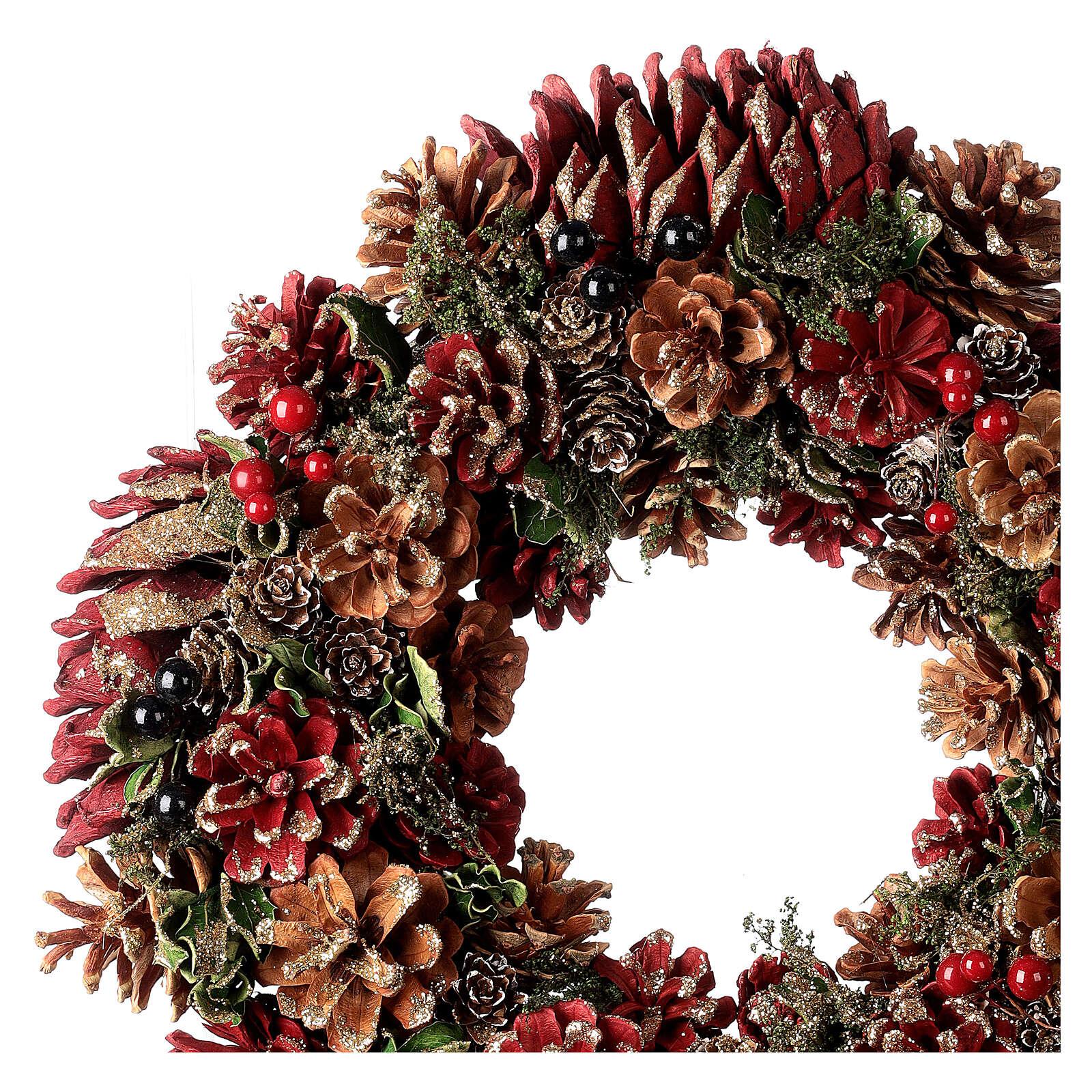 Christmas wreath advent wreath red 35 cm 3