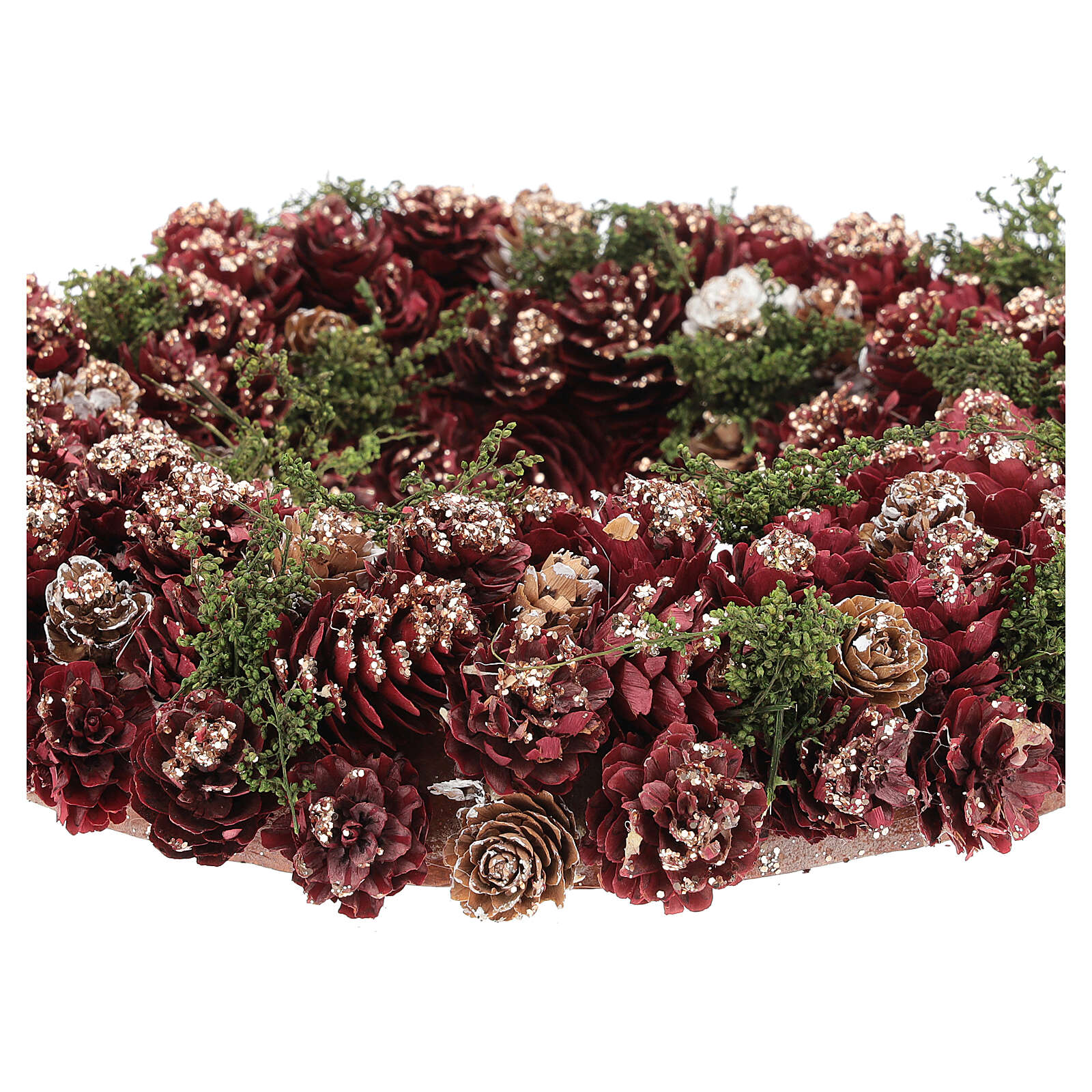 Christmas wreath with gold griller and pine cones 30 cm 3