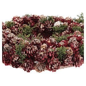 Christmas wreath with gold griller and pine cones 30 cm s3