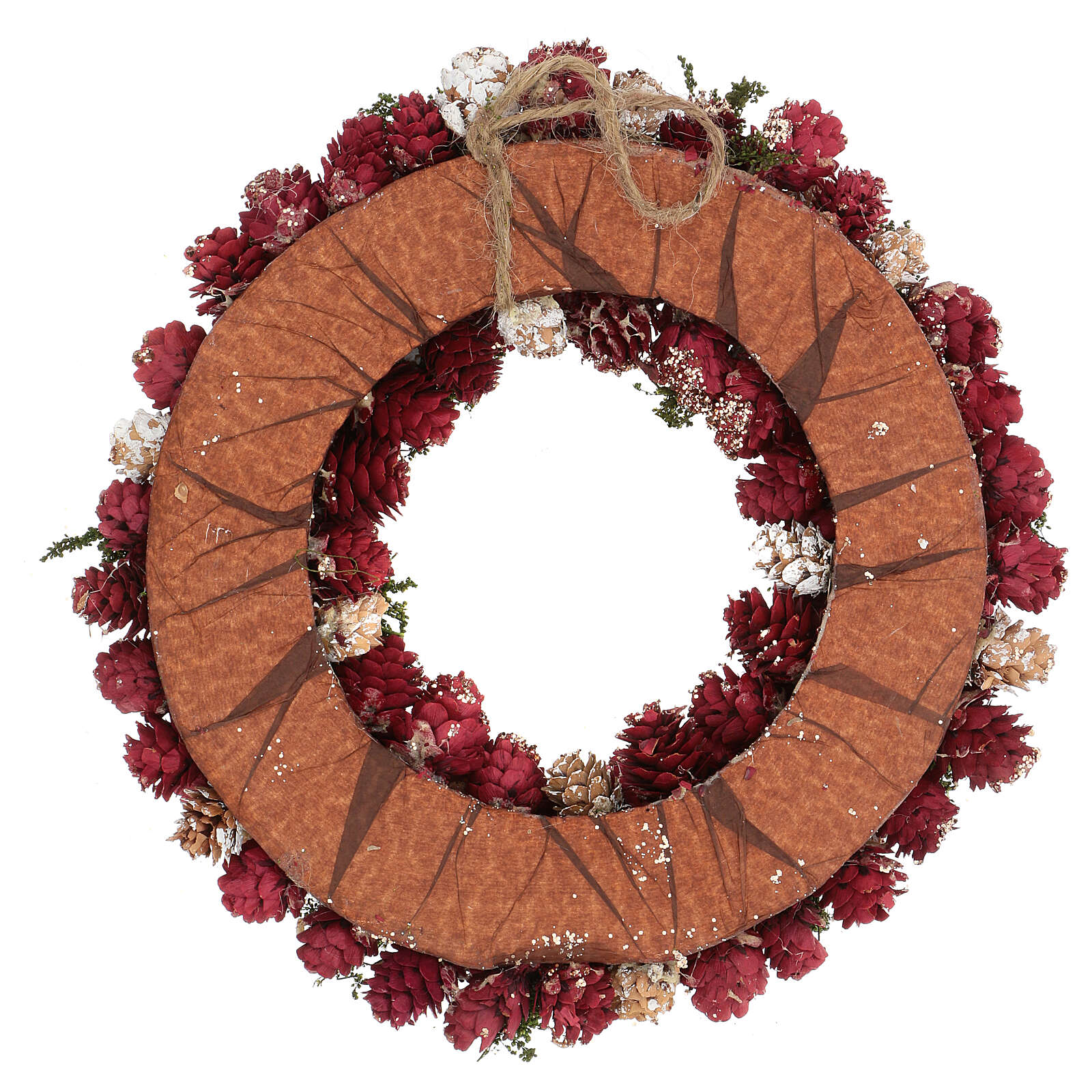 Ghirlanda natalizia corona avvento glitter oro 30 cm 3