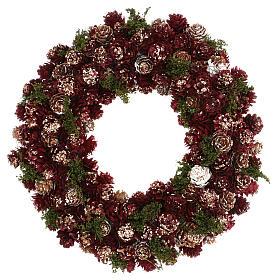 Ghirlanda natalizia corona avvento glitter oro 30 cm s1