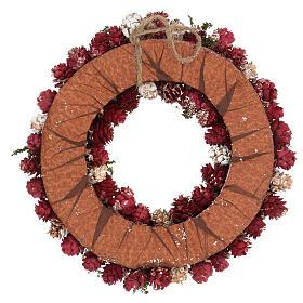 Ghirlanda natalizia corona avvento glitter oro 30 cm s4
