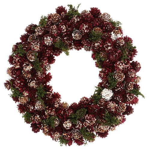 Ghirlanda natalizia corona avvento glitter oro 30 cm 1