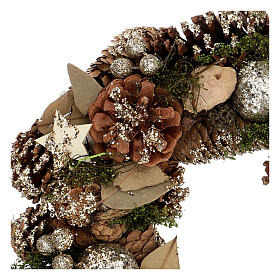 Couronne Noël Avent or 30 cm s2