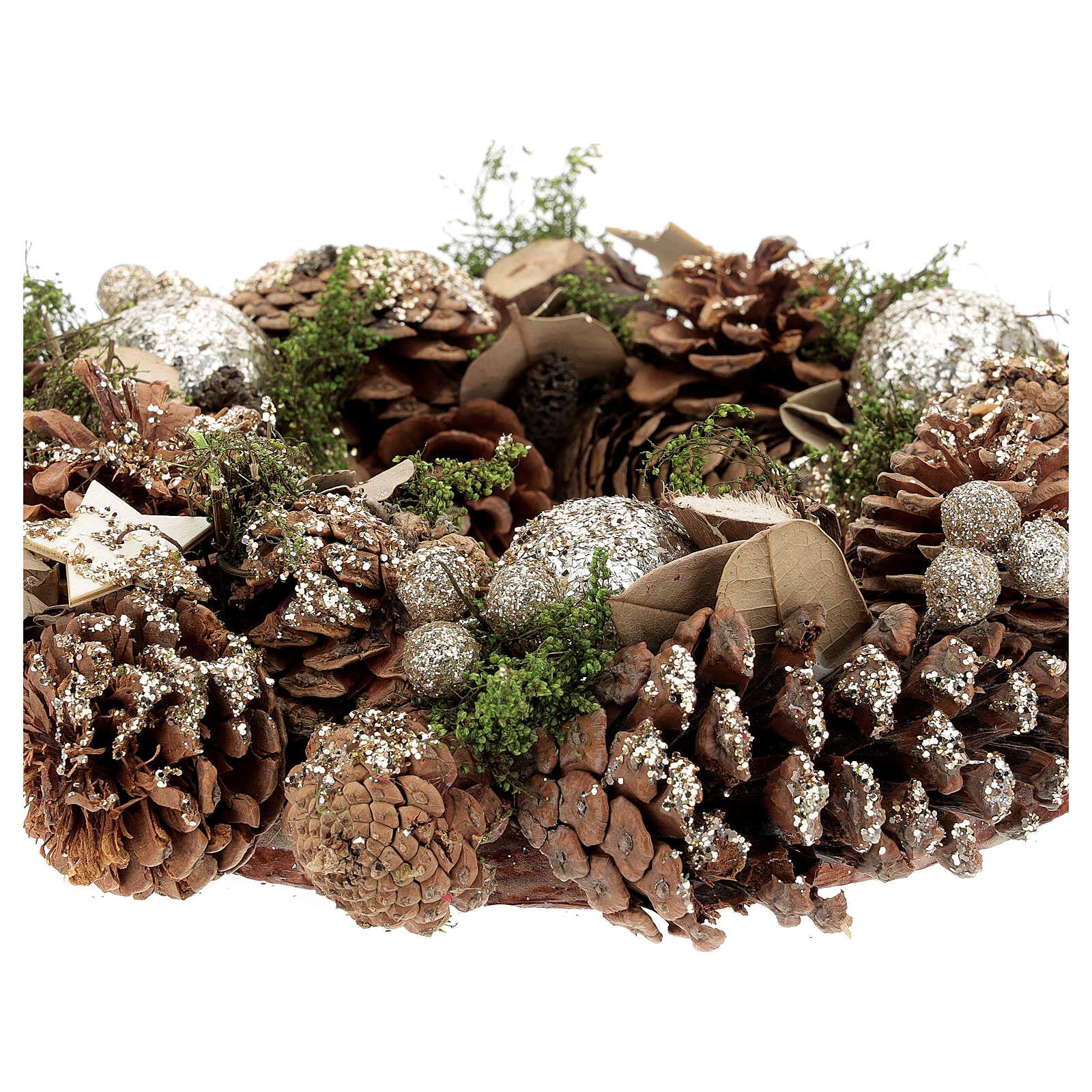 Christmas wreath advent wreath gold 30 cm 3