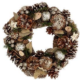 Christmas wreath advent wreath gold 30 cm s1