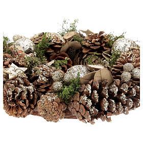Christmas wreath advent wreath gold 30 cm s3